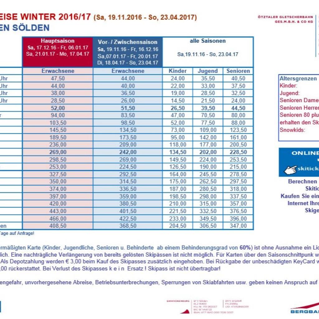 Skipasspreise Sölden Ferienhaus Flussperle